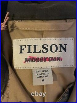 NWT Filson X MOSSY OAK CAMO Upland Shelter Waterfowl Coat Tin Cloth Field Jacket