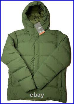 NWT Mens Mountain Hardwear Glacial Storm Hooded Jacket Down Puffer Large 300$