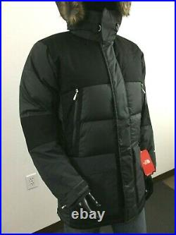 NWT Mens TNF The North Face Vostok Down Parka Insulated Winter Jacket Grey Black