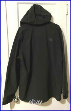 NWT THE NORTH FACE Men's GORETEX Apex Flex GTX Hoodie Jacket 1/2 Zip Large Black