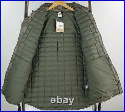 NWT THE NORTH FACE Size XL Mens Camo Thermoball Eco Snap Jacket Coat Green Army