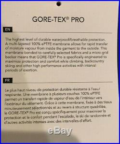 NWTs Arcteryx Mens Rush LT Jacket. Gore-Tex Pro. X-Large. Black Pilot ($649)