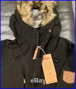 NWTs Fjallraven Mens Keb Eco-Shell Parka (#82501) Medium. Black(retail $600)