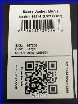 New Arc'teryx Sabre Gore-Tex RECCO Jacket Men's COLOR ORION sz LaRGE MSRP $625