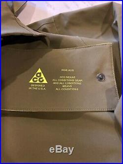 New Nike Nikelab ACG Gore-Tex Hoodie Jacket Acronym Mens XL Olive AQ3516-395