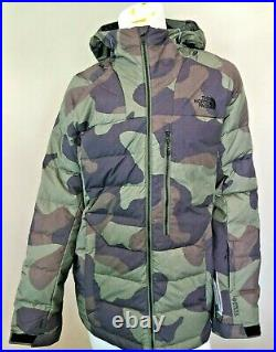 New The North Face Large Corefire 550 Down Jacket Mens Camo Goretex Infinium L