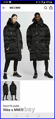 Nike Lab MMW Size L Matthew M Williams Down Fill Black Parka(AR5610-010) LARGE