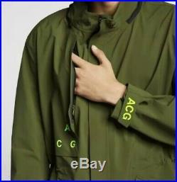 Nike Nikelab ACG Gore-Tex Hooded Coat Size Medium Olive Green (AQ3516-395) New
