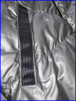 Nike Sportswear Down Fill Puffer Jacket Coat Hooded BV4709 096 Silver Mens Sz M