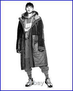 Nike Sportswear Synthetic Fill Sherpa Parka Black Sequoia BV4797 010 Men's SZ M