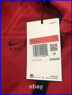 Nike x MMW 3-Layer Jacket Men's Size L Red Matthew Williams Alyx $450 Retail NWT