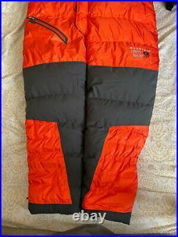 Nwot Mens Mountain Hardwear Absolute Zero Suit Medium Med Orange Himalayan Down