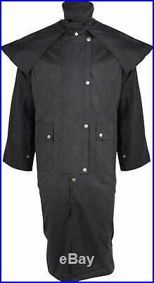 Oilskin Duster Western Australian Drover Coat Waterproof XL 2XL 4XL 5XL 6XL