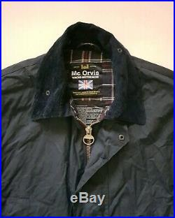 Orvis Field Coat Jacket Waxed Beaufort L (44) Blue Hunting Fishing Rrp £250