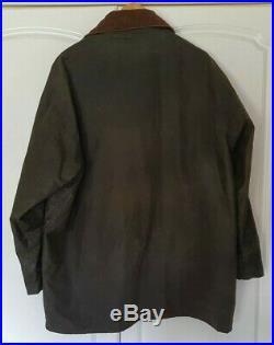 Orvis Field Coat Jacket Waxed Beaufort XL (46) Green Hunting Fishing Rrp £289