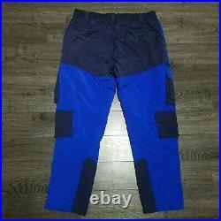 POLO RALPH LAUREN Hi Tech Utility Cargo Pants Mens XL 36x30 Blue Hiking Nylon