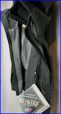 Patagonia Mens Calcite GoreTex Jacket Coat Size XS Black Waterproof Hooded Zip