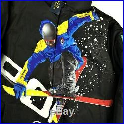 Polo Ralph Lauren Alpine Ski 92 Downhill Skier Down Jacket Snow Beach Hi Tech