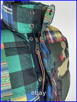 Polo Ralph Lauren Down Fill Patchwork Puffer Gilet Size Small RRP £345