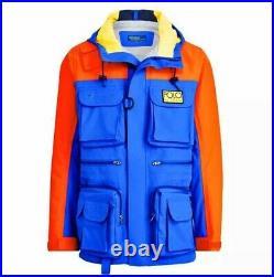 Polo Ralph Lauren Hi Tech Anorak Jacket Royal Blue Orange XL