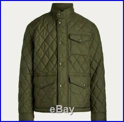 Polo Ralph Lauren Hunting Shooting Skeet Military Army Diamond Quilted Jacket L