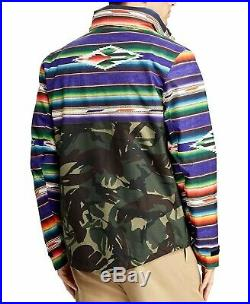 Polo Ralph Lauren Men Military Army Camo Southwestern Aztec Indian Rain Jacket