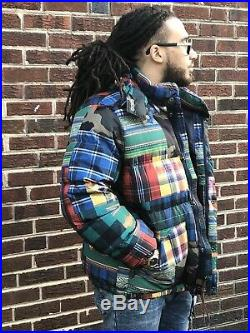 Polo Ralph Lauren Men Military Camo Southwestern Patchwork Down Jacket Parka XXL