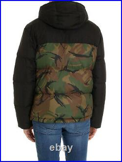 Polo Ralph Lauren Military Army Camo Colorblocked 650 Down Jacket Sherpa Hooded