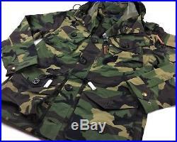 Polo Ralph Lauren Military US Army Camo Utility Combat Field Rain Jacket Battle