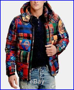 Polo Ralph Lauren Patchwork Duck Down Jacket Parka Southwestern Aztec Beacon Men