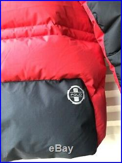Polo Ralph Lauren RLX650 Expedition Trail Down Parka Jacket Red Size XL RRP £600