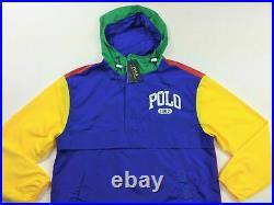 Polo Ralph Lauren VTG Color-Blocked Windbreaker Pullover Popover Jacket Hoodie