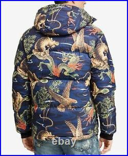 Polo Ralph Lauren VTG Retro Tigers Dragons Oriental 750 Down Jacket Sherpa Hood