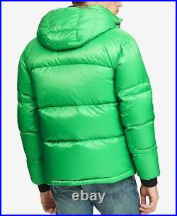 Polo Ralph Lauren VTG Sportsman Military Camo 750 Down Jacket Sherpa Hood Green