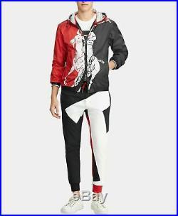 Polo Ralph Lauren Vtg Retro Colorblocked P-Wing Big Pony Windbreaker Rain Jacket