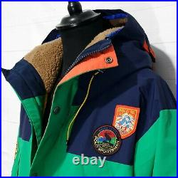 Polo Ralph Lauren Yosemite sportsman Anarak patch parka hiking hooded jacket XL