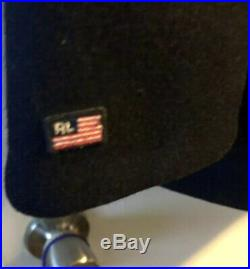 Polo Ralph Laurenwool Naval Peacoat Embroidered Patch/flag Blue Mens Large