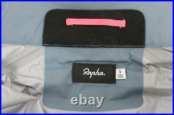 RAPHA Men's Grey Blue Packable Waterproof Zip Cycling Jacket S BNWT RRP160
