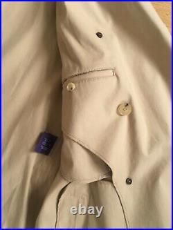 Ralph Lauren Purple Label Trench Coat M Italy Rain Mackintosh Raincoat £2500.00
