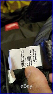 SUPREME X NORTH FACE NUPTSE ORANGE M DOWN JACKET box crewneck hoody mustard blue