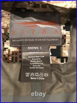 Sitka Gear Flash Pullover- Large Subalpine Rainwear Mint! FREE SHIPPING