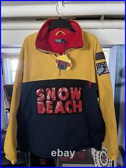 Snow Beach Polo Ralph Lauren Pullover Jacket Men Nwt Medium 100% Authentic