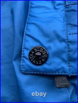 Stone Island Mussola Gommata Jacket Mens XL Authentic Made In Italy Blue