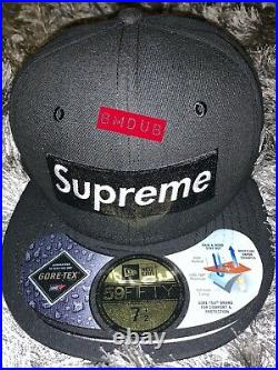 Supreme x New Era Gore-Tex 2-Tone New Era FW14 Black 7 1/2 (59.6cm) DS NWT