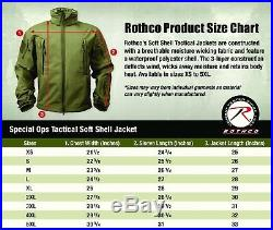 Tactical Soft Shell Jacket Coyote Brown Waterproof Windproof Rothco 9867