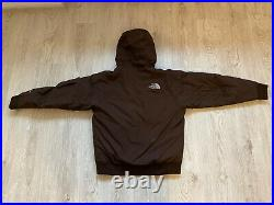 The North Face Gotham Hyvent Down Puffer Hooded Winter Brown Jacket Large