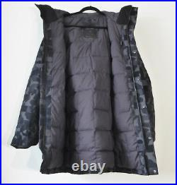 The North Face Men's CRYOS WOOL BLEND DOWN PARKA Gore-Tex Jacket Black Camo M