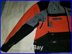 The North Face Steep Tech Ski Parka Shell Orange Gray Rain Jacket Scot Schmidt