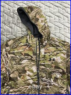 UNDER ARMOUR Forest Hunting Jacket Large Ridge Reaper Barren Camo Extreme