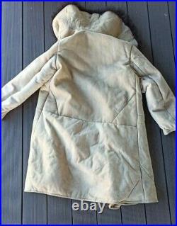 USSR Soviet Russian Army BEKESHA Sheepskin Military Winter Coat TULUP Size1 1967